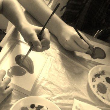 """Giochiamo con la stampa """"il monotipo"""" workshop per famiglie"""