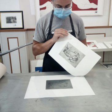"""workshop """"come and print an etching """"(book the previous day)"""